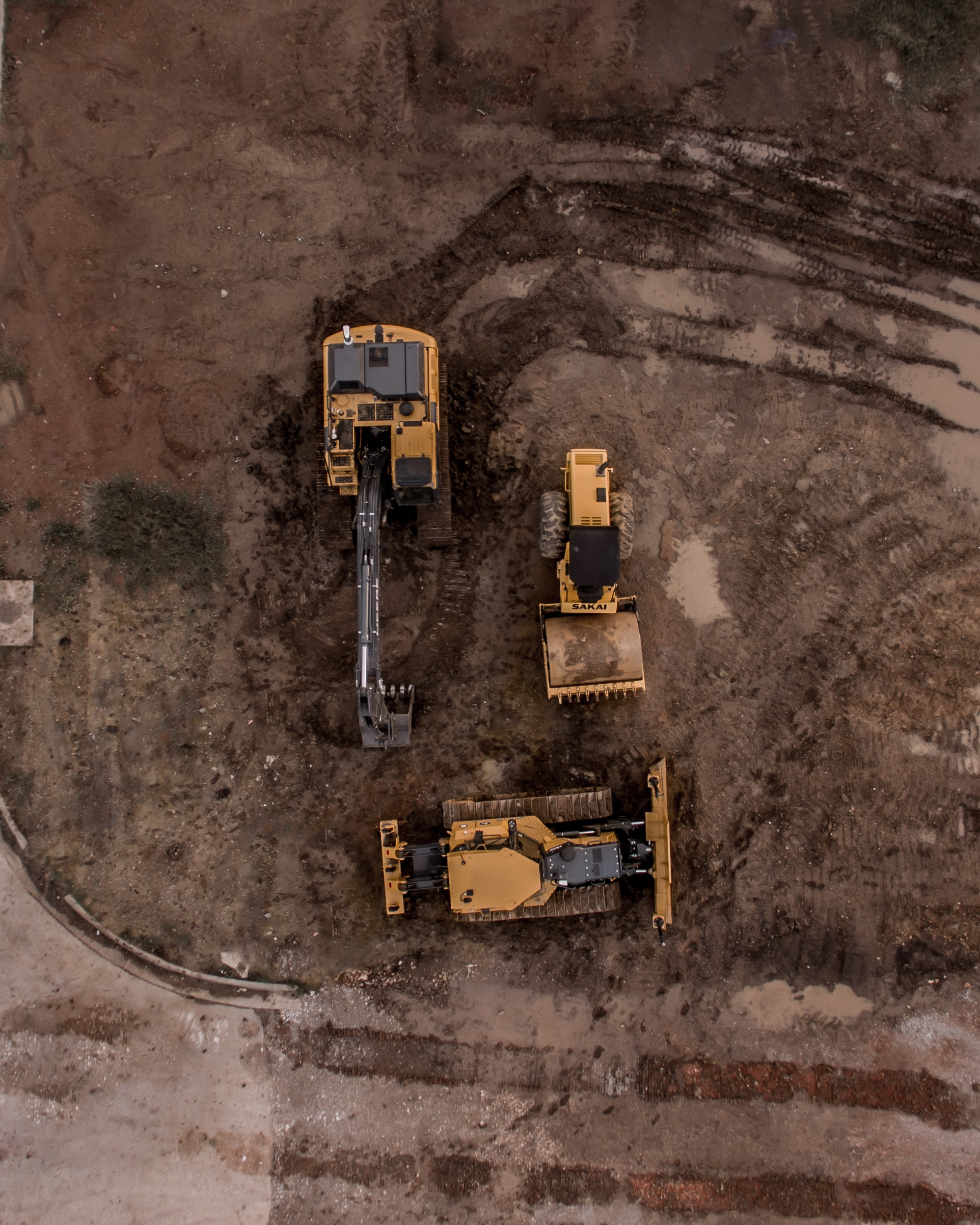 Diggers on site